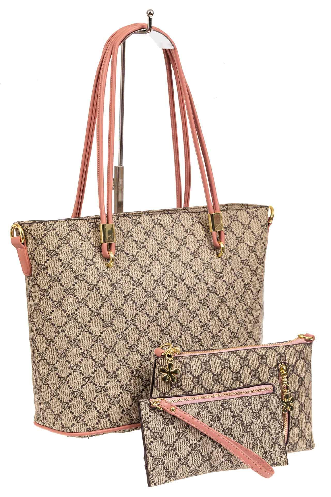 Женская сумка шоппер из искусственной кожи, цвет бежевыйA17236-1PJ0520/5