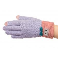 На фото 1 - Шерстяные перчатки женские с Touch Screen, цвет серо-голубой