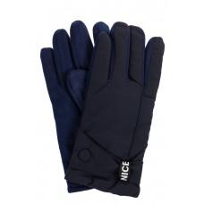 На фото 1 - Утепленные перчатки мужские, цвет синий