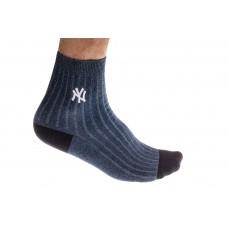 На фото 1 - Спортивные носки мужские, хлопок, размер 25-28, цвет голубой