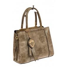 На фото 1 - Классическая сумка-трапеция из искусственно...