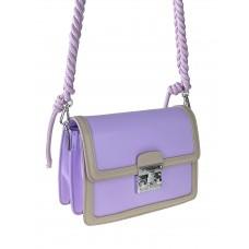 На фото 1 - Женская летняя сумка сэтчел из экокожи, цвет ярко-сиреневый