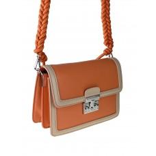 На фото 1 - Женская летняя сумка сэтчел из экокожи, цвет оранжевый