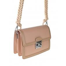На фото 1 - Женская летняя сумка сэтчел из экокожи, цвет пыльная роза