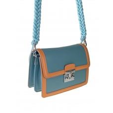 На фото 1 - Женская летняя сумка сэтчел из экокожи, цвет бирюзовый