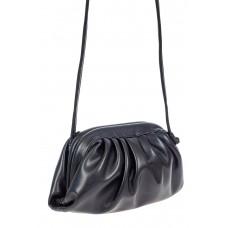 На фото 1 - Вечерняя сумка-малышка из мягкой экокожи, цвет чёрный