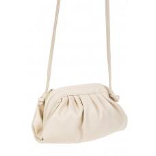 На фото 1 - Вечерняя сумка-малышка из мягкой экокожи, цвет молочный