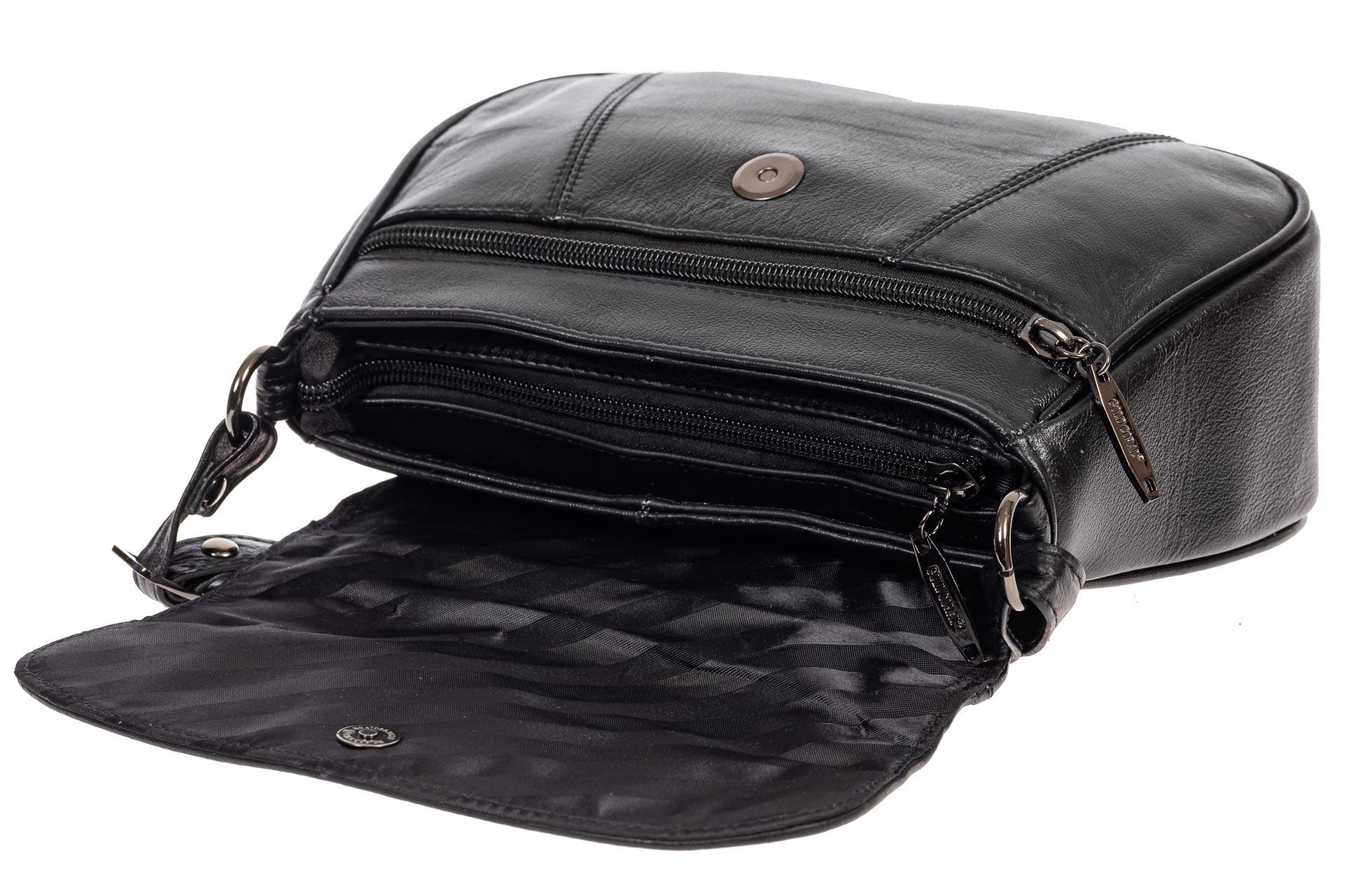 На фото 4 - Сумка-седло из мягкой натуральной кожи, цвет чёрный