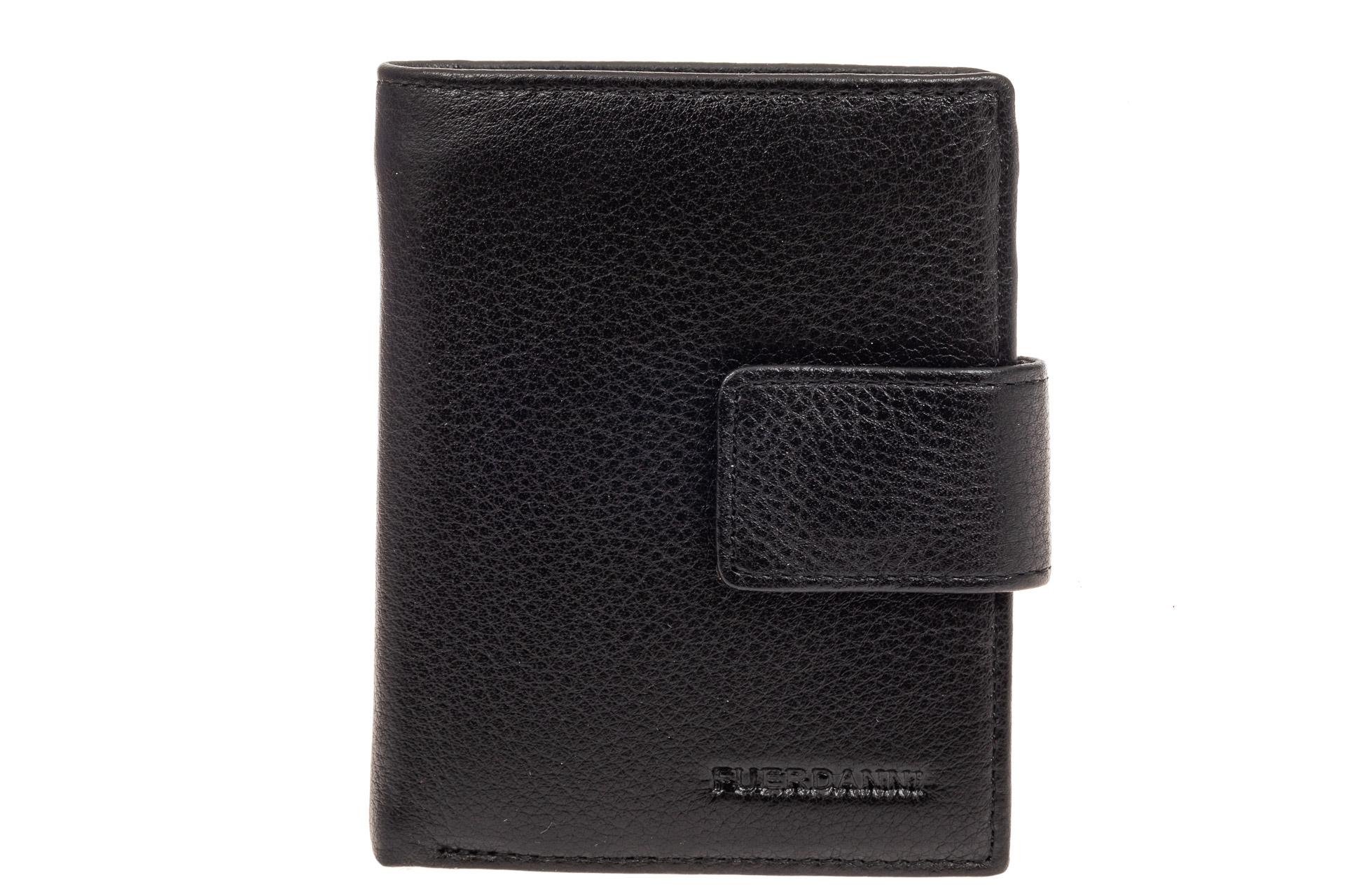 На фото 1 - Небольшое мужское портмоне (кошелек), черное