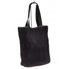 На фото 1 - Сумка-мешок женская из текстиля, цвет черны...