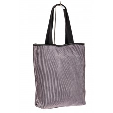 На фото 1 - Сумка-мешок женская из текстиля, цвет серый