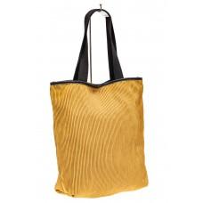 На фото 1 - Сумка-мешок женская из текстиля, цвет золото