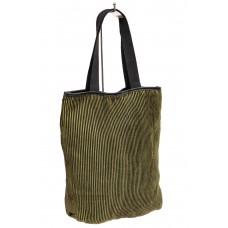 На фото 1 - Сумка-мешок из ткани, цвет зеленый