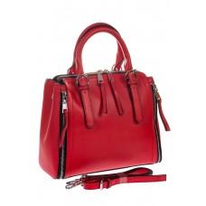 Женский hand-bag красного цвета из натуральной кожи для оптовых покупателей