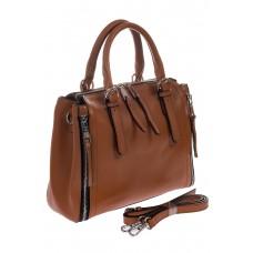 Женский hand-bag коричневого цвета из натуральной кожи для оптовых покупателей
