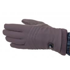 На фото 1 - Комбинированные перчатки мужские, цвет серо-синий