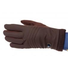 На фото 1 - Качественные комбинированные перчатки мужские, цвет коричневый