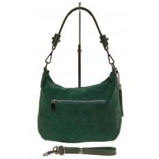 На фото 3 - Небольшая замшевая сумочка, цвет зеленый