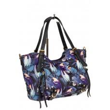 На фото 1 - Женская тканевая сумка, мультицвет