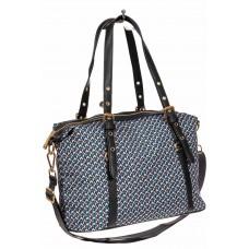 На фото 1 - Тканевая сумка, мультицвет с геометрическими узорами