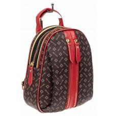 На фото 1 - Рюкзак, цвет шоколад с принтом