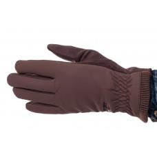 На фото 1 - Комбинированные перчатки мужские, цвет коричневый