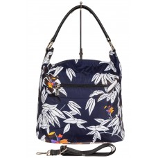 На фото 1 - Пёстрая текстильная сумка с косметичкой