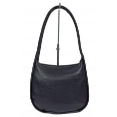 На фото 3 - Сумка-седло женская из мягкой экокожи, цвет чёрный