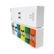 На фото 1 - Набор спортивных носков для мужчин в коробке, 6 цветов