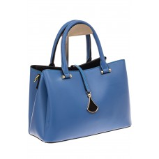 На фото 1 - Женская сумка из натуральный кожи, цвет синий