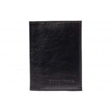 На фото 1 - Обложка для автодокументов из натуральной кожи, цвет чёрный