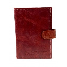 На фото 1 - Обложка для паспорта и автодокументов, цвет бордовый