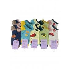 На фото 1 - Короткие женские носки с фруктовым принтом, 10 пар