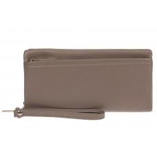 На фото 1 - Женский кошелёк-клатч из мягкой экокожи, цвет серый