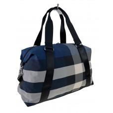 На фото 1 - Текстильная дорожная сумка в клетку, мультицвет