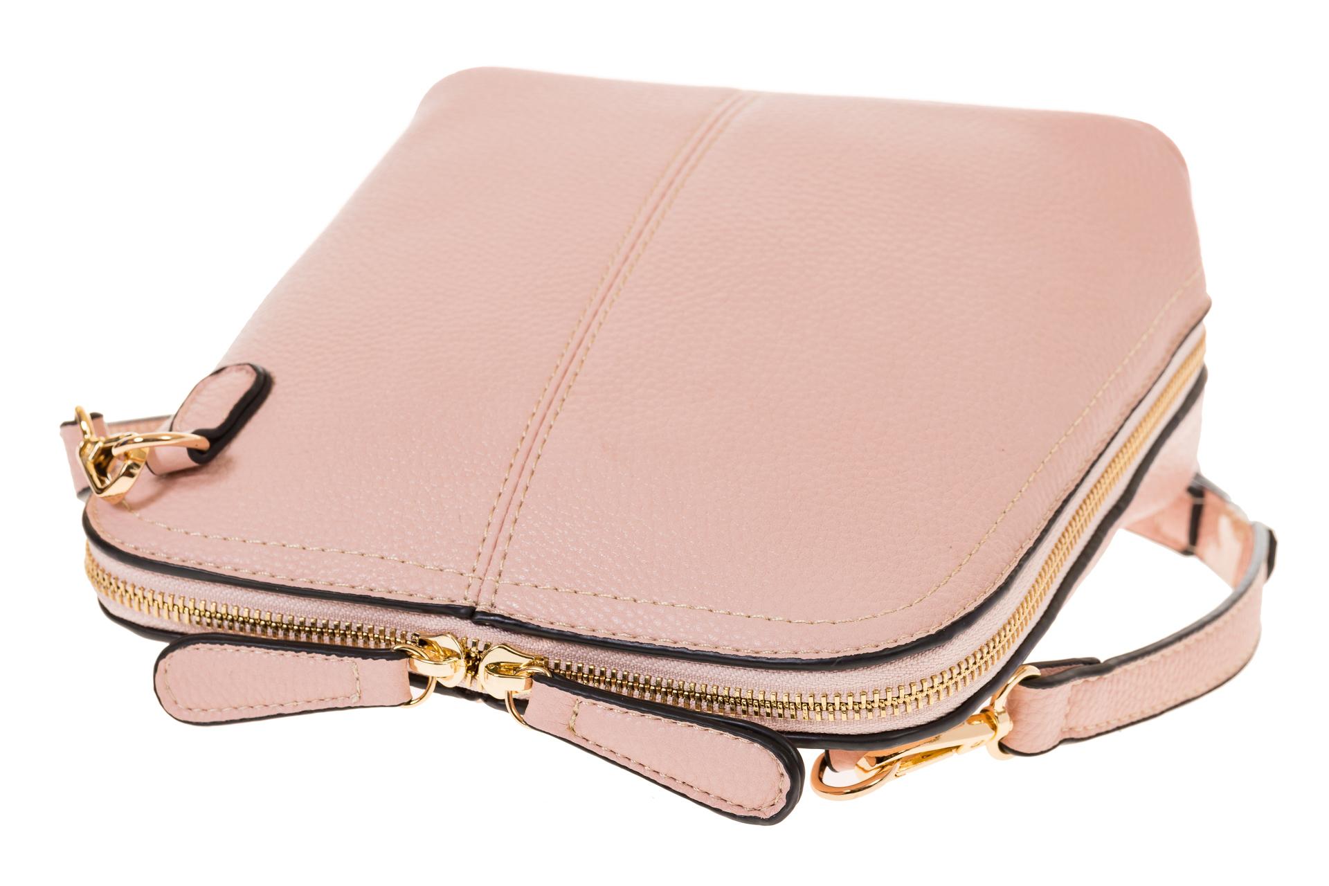 На фото 4 - Сумочка кросс-боди из эко-кожи розового цвета B003