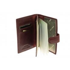 На фото 2 - Обложка для документов из натуральной кожи, цвет коричневый
