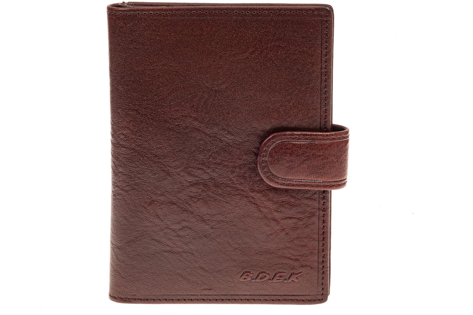 На фото 1 - Обложка для документов из натуральной кожи, цвет коричневый