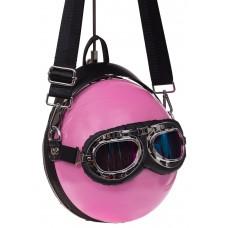 На фото 1 - Сумка-рюкзак с wow-эффектом, цвет розовый