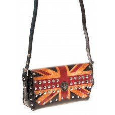 на фото Сумка-багет из натуральной кожи «Британский флаг» B12MK5