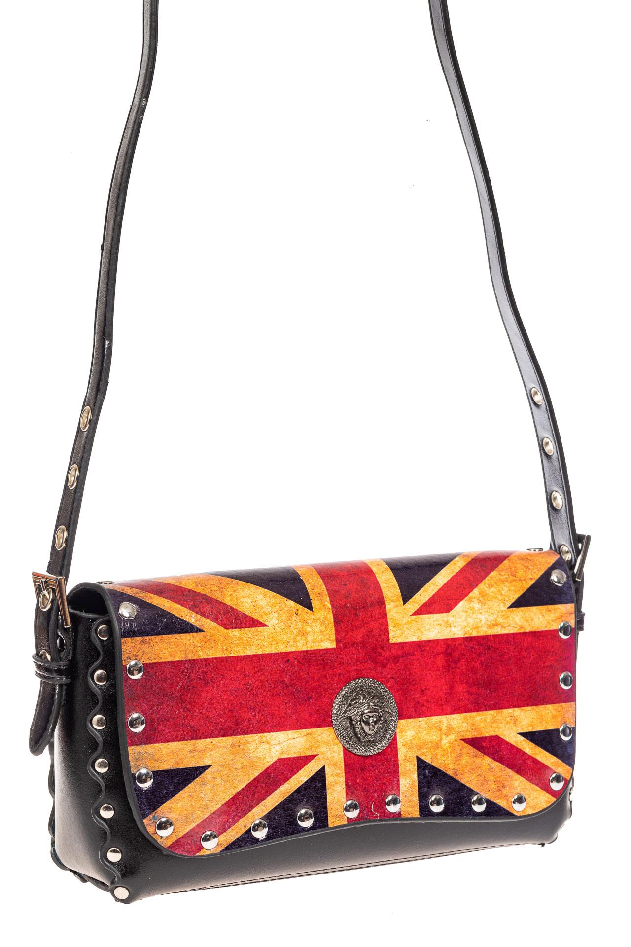 На фото 1 - Женская сумка из кожи, цвет черный