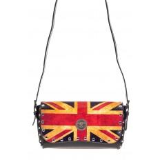 На фото 2 - Женская сумка из кожи, цвет черный