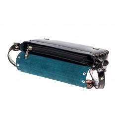 На фото 4 - Женская сумка из кожи, цвет черный
