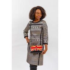 На фото 5 - Женская сумка из кожи, цвет черный