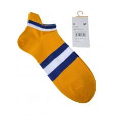 На фото 1 - Женские носки в полоску с высокой пяткой, цвет жёлтый