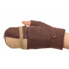 На фото 1 - Перчатки без пальцев женские, митенки, цвет темно-серый