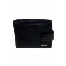 На фото 1 - Чёрный маленький кошелёк для мужчин из натуральной кожи