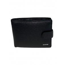На фото 1 - Кожаное мужское портмоне, цвет чёрный