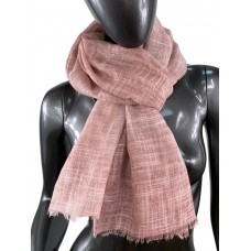 На фото 1 - Лёгкий шейный платок из хлопка и бамбука, цвет розового дерева