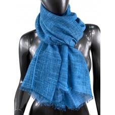На фото 1 - Лёгкий шейный платок из хлопка и бамбука, цвет морской волны